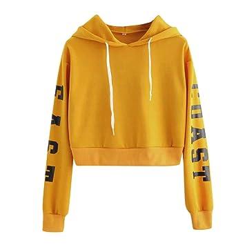 Clearance Sale Women Long Sleeve Hoodie Sweatshirt,Vanvler Ladies Letter Print Top Short Blouses Pullover