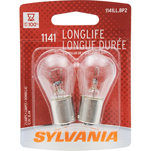 SYLVANIA 1141 Long Life Miniature Bulb, (Contains 2 Bulbs)