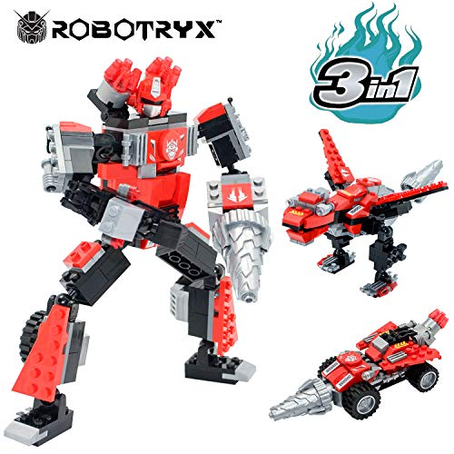 JITTERYGIT Robot STEM Toy | 3 in 1 Fun Creative Set | Construction Building Toys for Boys Ages 6-14 Years Old | Best Toy Gift for Kids | Free Poster Kit Included ()