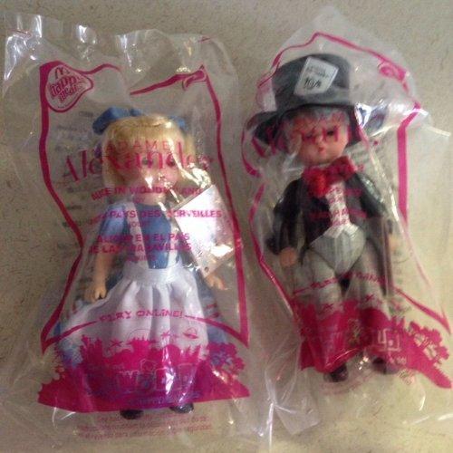 McDonald's Alice in Wonderland & Mad Hatter 2010 Dolls by Madame Alexander