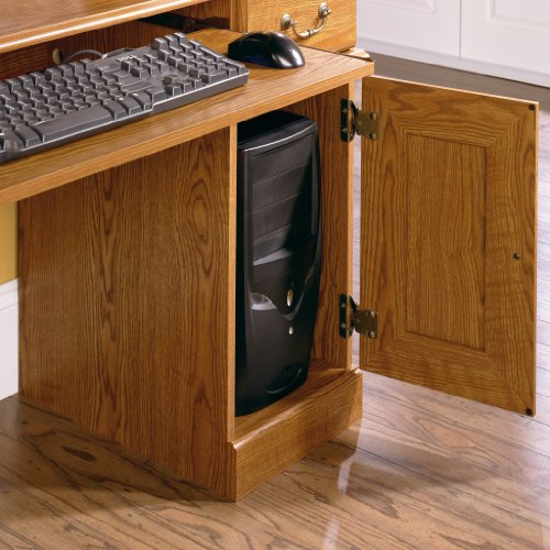 042666024372 - Sauder Orchard Hills Computer Desk with Hutch, Carolina Oak carousel main 1