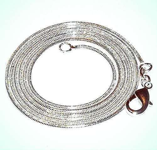 Silverplate Snake - Snake Silver-Plate Lobster Clasp 20
