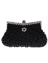 Fawziya Pearl Beaded Party Handbag Wedding Purse Bag