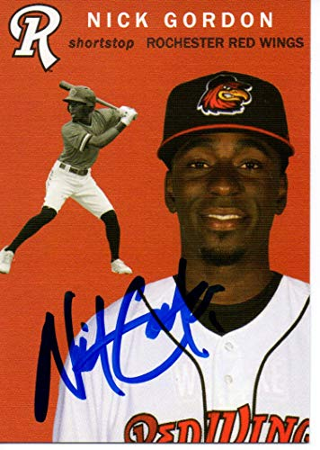 Nick Gordon 2018 Rochester Red Wings SGA Update Autographed Signed Card