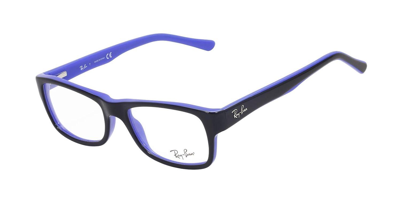 5be5f3e74e8 Ray Ban RX5268 Eyeglasses 50-17-135 Top Black On Blue 5179 RB5268   Amazon.co.uk  Clothing