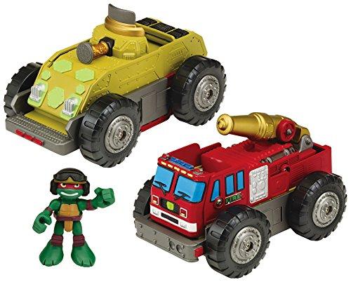 Teenage Mutant Ninja Turtles Pre-Cool Half Shell Heroes Mutations Fire Truck to Tank with Raphael Mutating Vehicle and Figure (Ninja Turtle Pizza Playset compare prices)