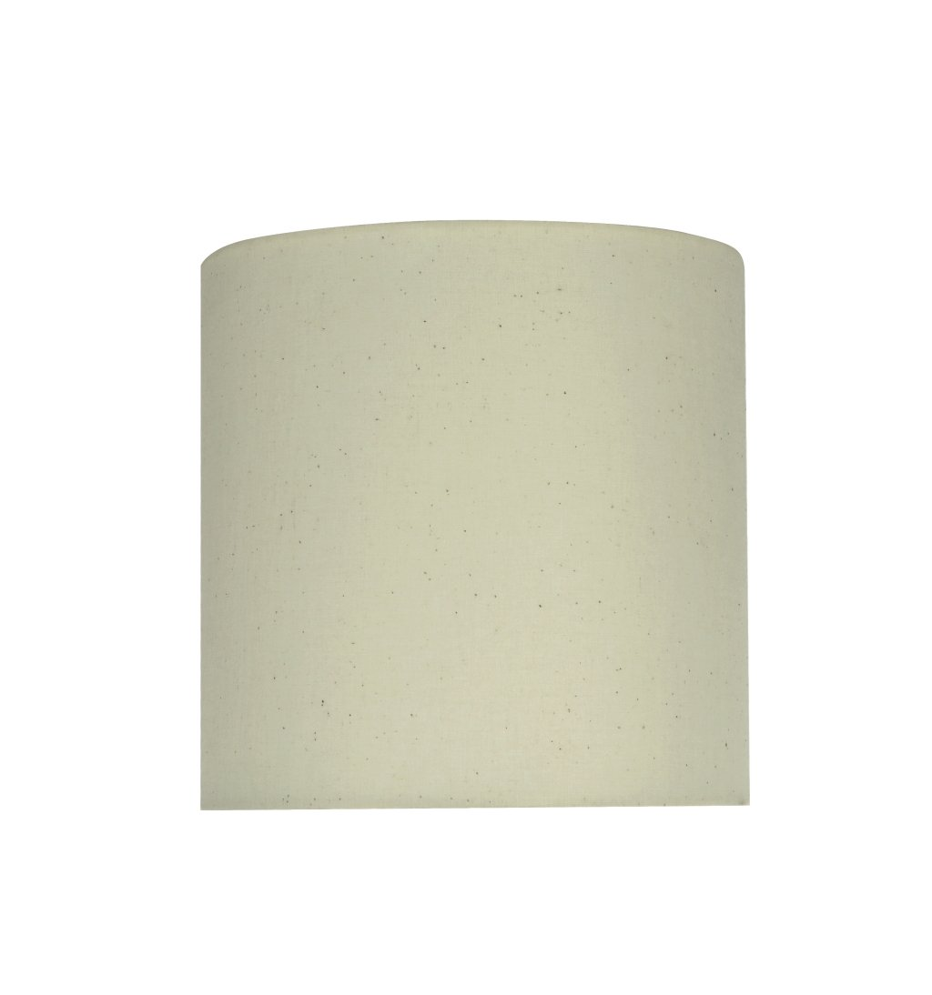Aspen Creative 58303 Transitional Drum (Cylinder) Shape UNO Construction Lamp Shade in Off White, 8'' Wide (8'' x 8'' x 8'')