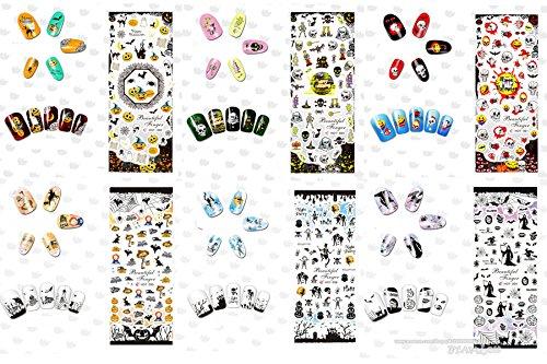 BTArtbox 9 Sheets 3D Christmas Design Full Nail Wraps Santa Claus Nail Stickers Snowman Nail Decals XMAS Seasonal Holiday Glitter DIY Nail Art Stickers Great For Thanksgiving Gift Christmas Gift