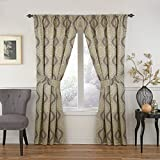 WAVERLY Moonlight Medallion Window Curtain, 63×52, Mineral For Sale