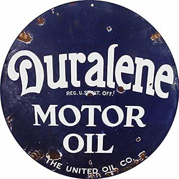 Amazon.com: Reproducción duralene aceite de motor cartel 24 ...