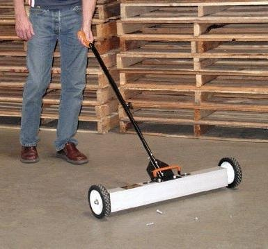 30in- Magnetic Sweeper With Wheels,Telescopic Rolling Magnetic Sweeper,Industrial Magnetics.
