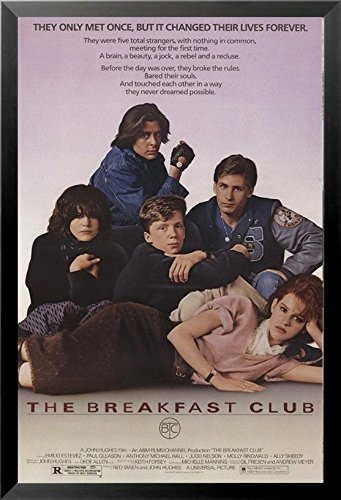 FRAMED The Breakfast Club 1984 36x24 Cult Movie Art Print Po