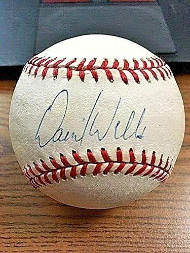 (Autographed David Wells Baseball - OAL ! Blue Jays Padres! - Autographed Baseballs )