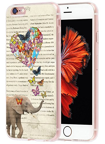 6S Plus Case art, Apple Iphone 6 Plus Case vintage elephant art