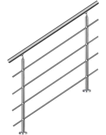 SAILUN 150cm pasamanos barandillas acero inoxidable con 4 postes parapeto,para escaleras,barandilla,