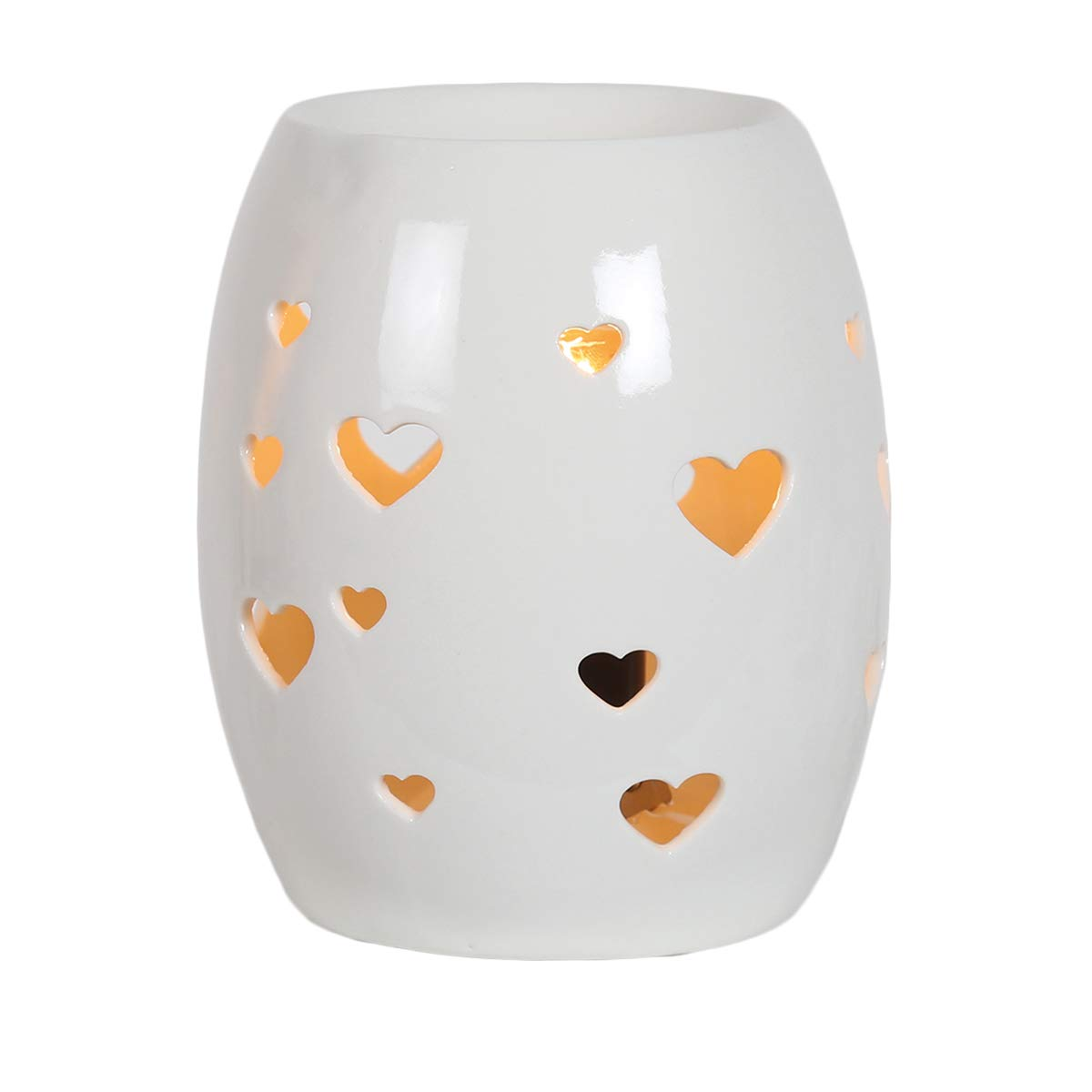 White Heart Electric Wax Burner Great For Yankee Candles