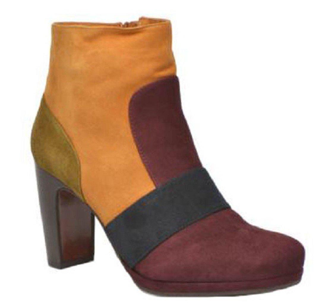 11sunshop - Botas de Piel para mujer marrón marrón 4436 EU Marrón