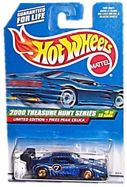 Hot Wheels - Limited Edition Treasure Hunt Series (2000) - Pikes Peak Celica (Metalflake Dark Blue) - #9 of 12 - Collector #057: 2000