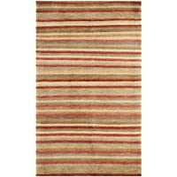 Safavieh Tibetan Collection TB198B Hand-Knotted Rust and Beige Wool Area Rug (3 x 5)