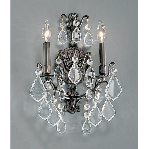 (Classic Lighting 8000 AB Versailles, Crystal Cast Brass, Sconce/WallBracket, 5