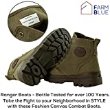 Farm Blue Men's Ranger Boots in OD Green - High Top