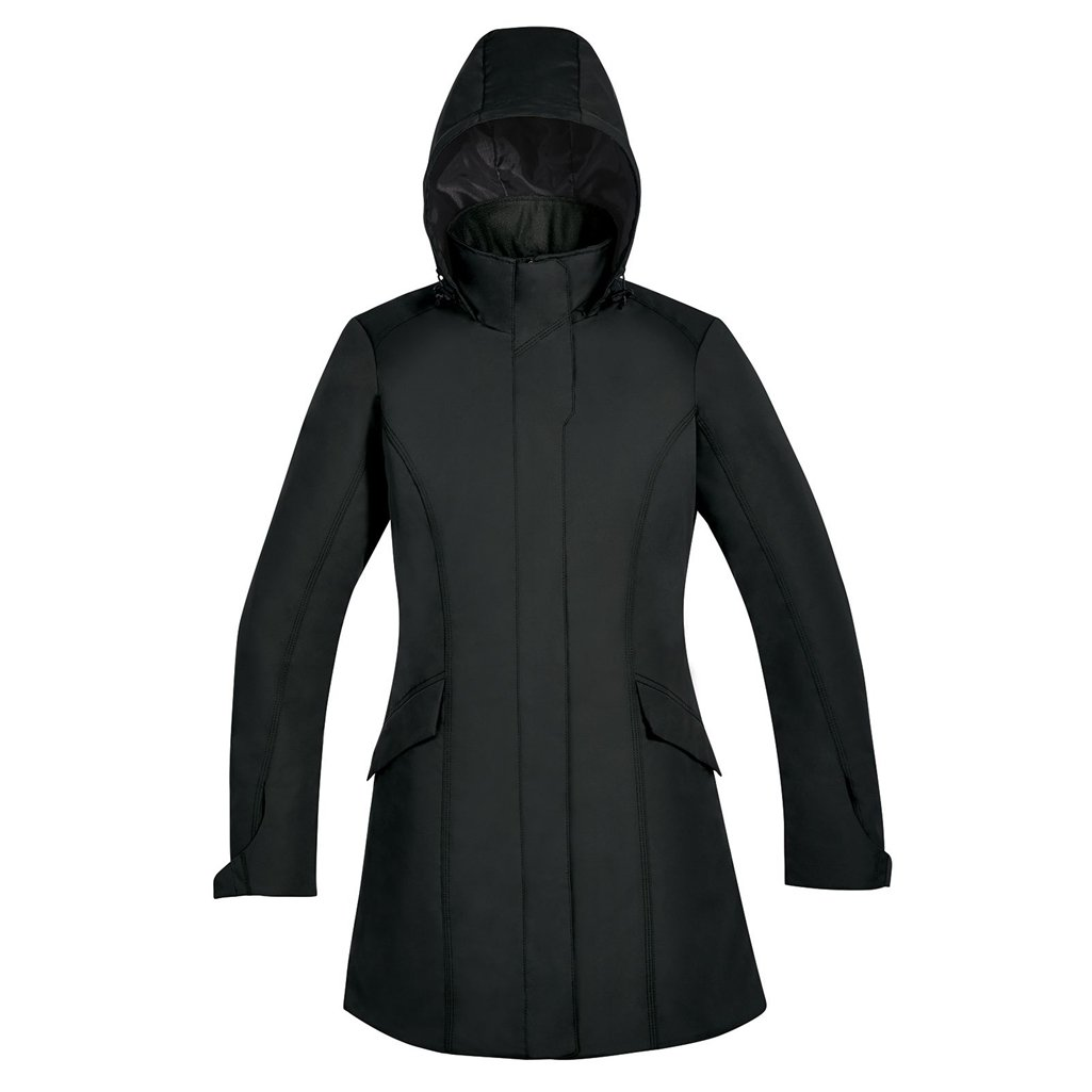 Ash City Apparel North End Promote Ladies Insulated Car Jacket (Small, Black)