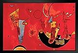 Mit Und Gegen Wassily Kandinsky Art Print Framed Poster 14x20 inch