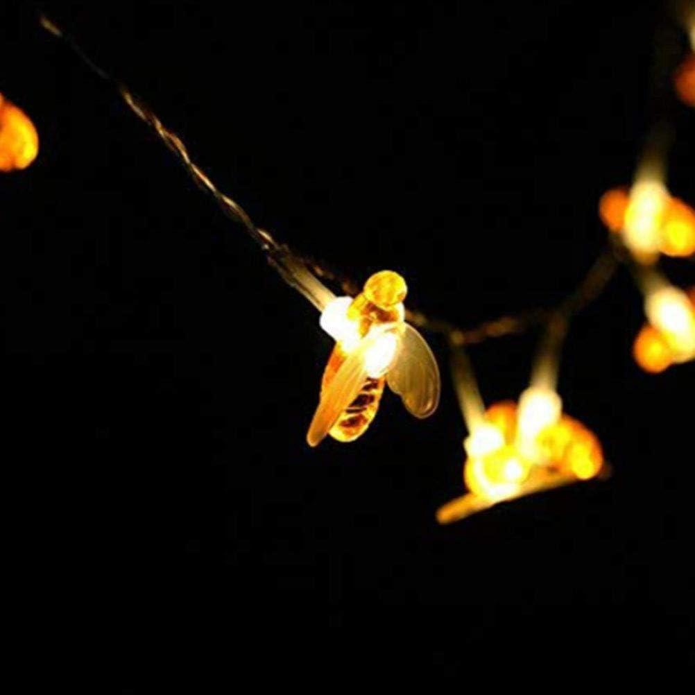 Terrasse Wasserdichte Outdoor//Indoor Garten Beleuchtung f/ür Blumenzaun Weihnachten Urlaub Rasen Sommerfest Girlande Honig Biene Lichterketten BSMEAN 50 LED Solar Garten Lichterketten