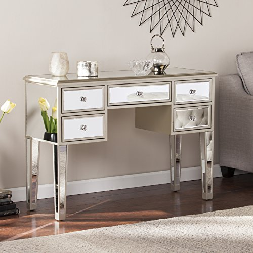 Mirage Glam Mirrored Console/Desk – Champagne – 43″ W x 15.5″ D x 30.25″ H