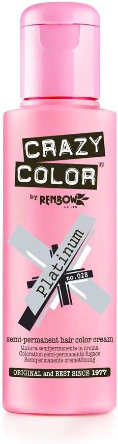 Crazy Color Platinum Nº 28 Crema Colorante del Cabello Semi-permanente 100ml