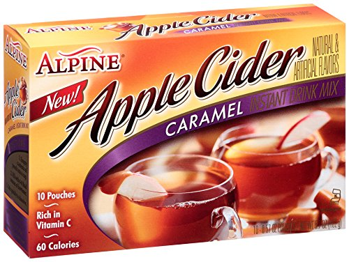 (Alpine Apple Cider Caramel Instant Drink Mix, 10-Count .57-Ounce Pouches)