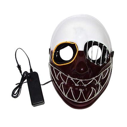 TODAYTOP EL - Máscara de alambre para Halloween, Grimace, máscara luminosa de moda,