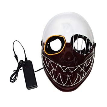 Chengstore Máscara de Halloween para Disfraz luz LED: Amazon ...