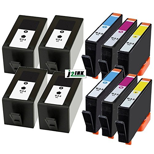 j2ink 10 Pack 934 X L 935 X L High Yield Cartuchos de tinta para HP OfficeJet 6812 6830 6815 6835 6230