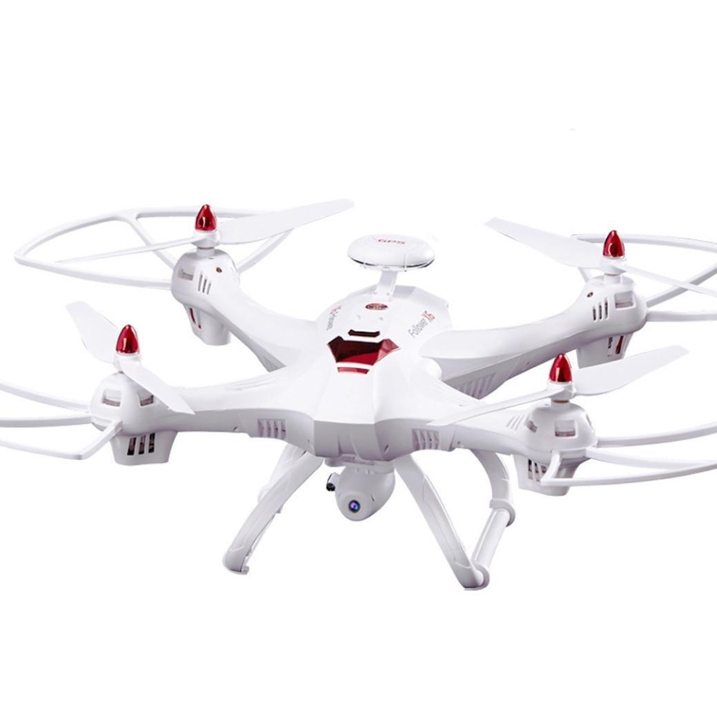 GJKK Cool Neue Globale RC Drohne X183 5,8 GHz WiFi FPV 1080 P Kamera Dual-GPS RC Quadcopter Mini Quadcopter Drone Spielzeug Geschenk Ferngesteuerte Flugzeuge Aircraft modellflugzeuge Tragbare Drohne Draussen Drohne-Schwarz/ Weiß (Weiß)