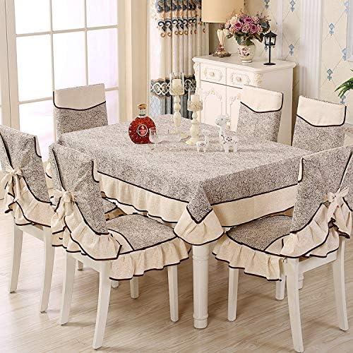 PORCN Mantel de tela rectangular mesa de comedor tapicería silla ...