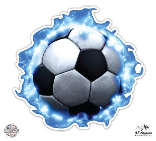 GT Graphics Soccer Ball Lightning - 3