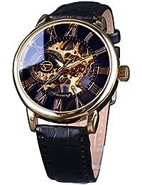 Royal Roman Number Men Watch Top Brand Luxury Skeleton Mechanical Watch