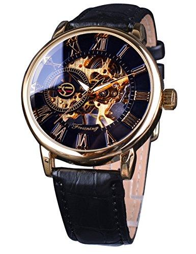 Forsining Royal Roman Number Men Watch Top Brand Luxury Skeleton Mechanical Watch
