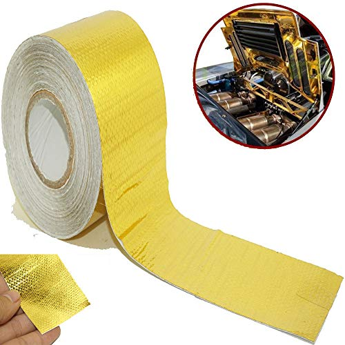 FidgetFidget Heat Sleeve Insulating Hose Tube Wrap Reflective Shield Adhesive Seam 50mm x 10m