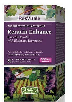 Keratin Enhance With Biotin And Resveratrol 500mg 60 Capsules