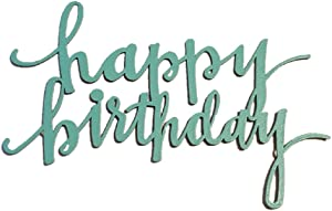 Embellish Your Story Happy Birthday Word (Teal) Magnet 13341T Made in USA