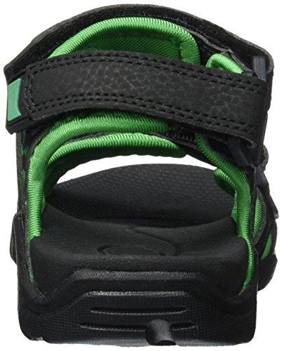 KangaROOS Inclas - Sandalias Unisex niños Schwarz (black/simply green)