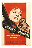 SUNSET BLVD Vintage Movie Poster WILLIAM HOLDEN Gloria Swanson 24X36 DRAMA (reproduction, not an original)