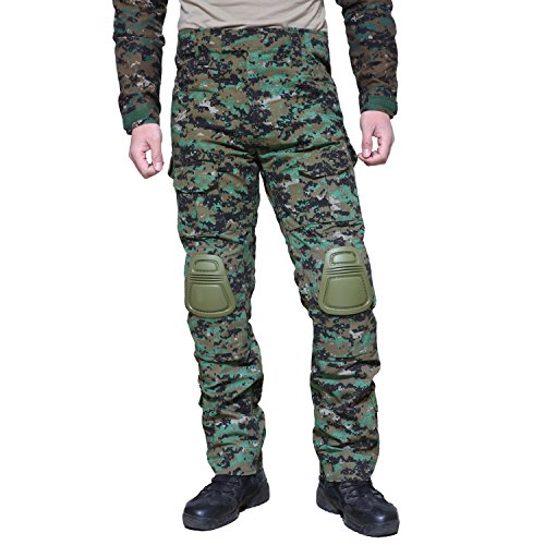 MAGCOMSEN Combat Trousers Army Combat Pants SWAT Military Uniform Camo Army with Free Knee Pads