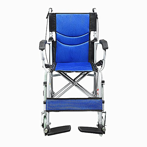 (Lightweight Wheelchair Steel Base + Breathable Mesh Foldable Scooter Old People with Disabilities Ultralight Travel Series)