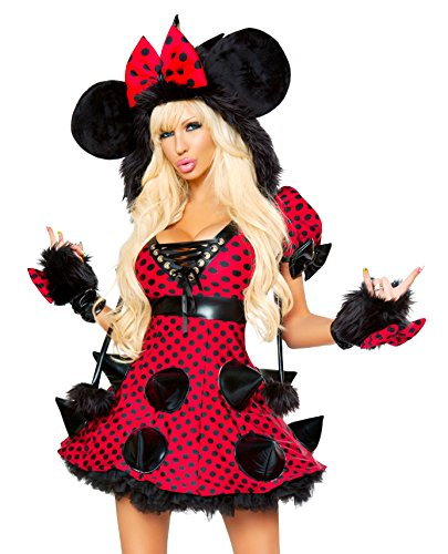 J. Valentine Women's Rebel Mouse Dress, Red/Black, (Mouse Trap Halloween Costume)