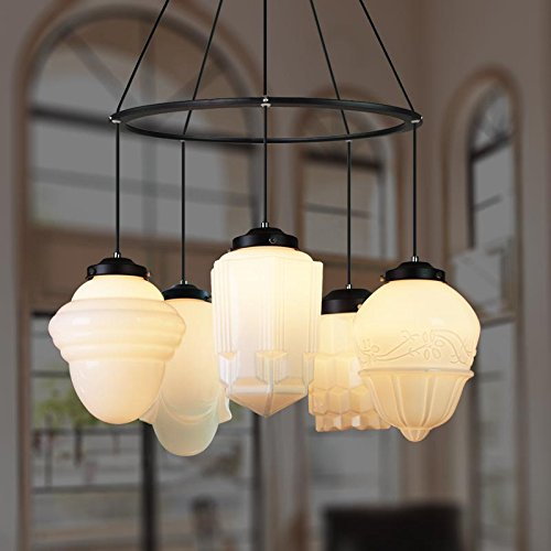 Leihongthebox on beach retro wind decorative arts high five light cream chandelier,