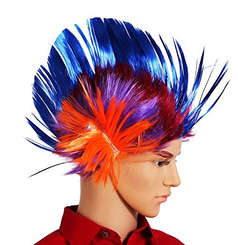 Dazzling Toys Massive Wiggling Punk Blue and Colored Wig