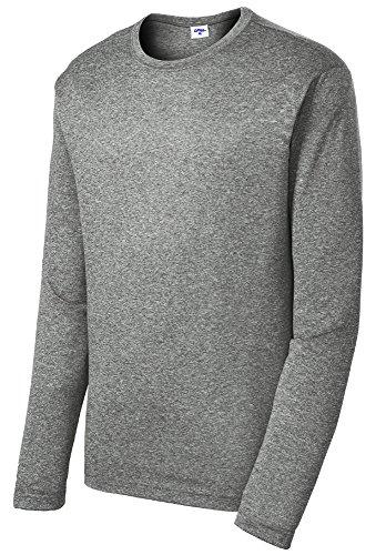 (Opna Men's Long Sleeve Moisture Wicking Athletic Shirts VINHEA-M)